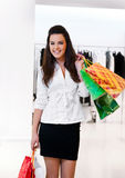 Women with packages shopping Royalty Free Stock Photography