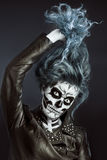 Women painted as skeleton Stock Images