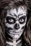 Women painted as skeleton Royalty Free Stock Images