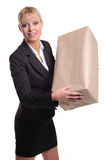Women with parcel Royalty Free Stock Images