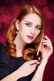 Women with parfume Stock Photos