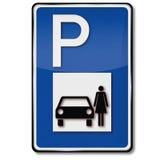 Women parking Royalty Free Stock Image