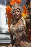 Women in pearl dress at Notting Hill carnival Royalty Free Stock Image