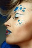 Women with perfect art make up Stock Images