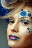 Women with perfect art make up Royalty Free Stock Photos