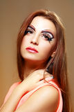 Women with perfect art make up Stock Image