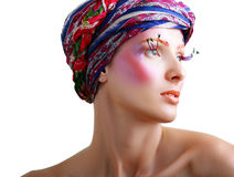 Women with perfect art make up Royalty Free Stock Photography