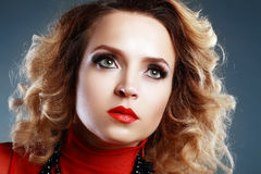 Women with perfect make up Royalty Free Stock Photo