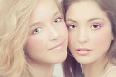 Women perfect skin Stock Photography