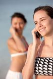Women on the phone Royalty Free Stock Images