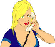 Women phone Stock Photos