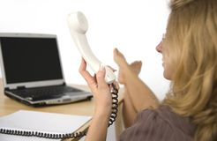 Women on the phone. Royalty Free Stock Photography