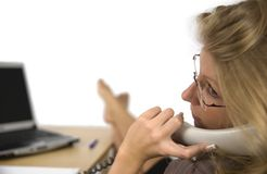 Women on the phone. A business woman phoned in office Stock Photo