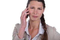 Women on the phone Stock Photo