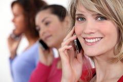 Women on the phone Stock Photos