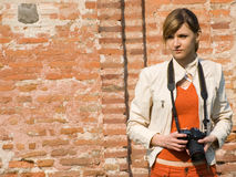 Women Photographer stock photo