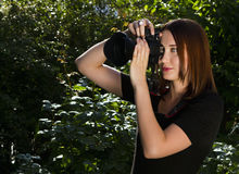 Women photographer Stock Photos