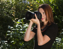 Women photographer Royalty Free Stock Photography