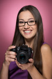 Women photographing. Royalty Free Stock Photos