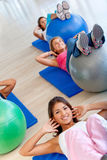 Women in pilates class Stock Image