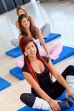 Women in pilates class Royalty Free Stock Photo