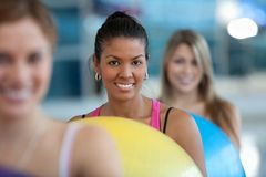 Women at a pilates class Royalty Free Stock Photography