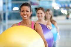 Women at a pilates class Royalty Free Stock Images
