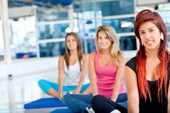 Women in pilates class Stock Images