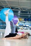 Women at a pilates class Royalty Free Stock Photo