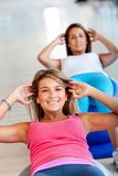 Women in a pilates class Royalty Free Stock Image