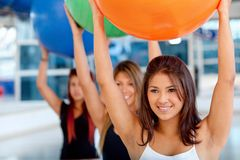 Women at a pilates class Stock Photos