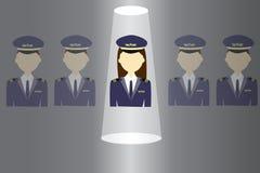 Women in pilot uniform Royalty Free Stock Image