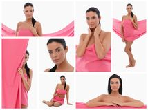 Women in pink - Breast Cancer Awereness Royalty Free Stock Photos