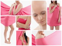 Women in pink - Breast Cancer Awereness Stock Image