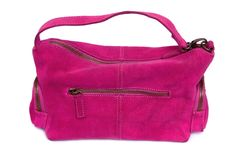 Women pink handbag Royalty Free Stock Photos