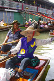 Women on pirogue royalty free stock image