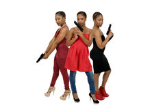 Women with Pistols Royalty Free Stock Photos