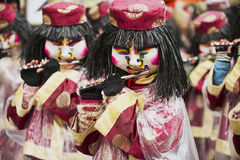 Women play flutes at Basel Carnival in Basel, Switzerland. Stock Image