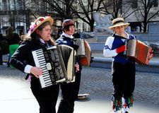 Women Playing Accordions Royalty Free Stock Photo