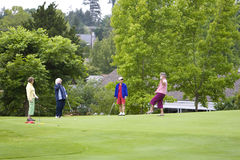 Women Playing Golf Royalty Free Stock Images