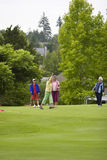 Women Playing Golf Stock Images
