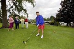 Women Playing Golf Stock Photo