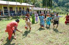 Women Playing Kabaddi Stock Image