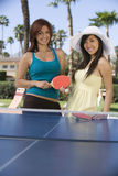 Women Playing Table Tennis Royalty Free Stock Images