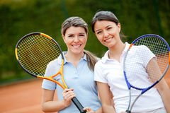Women playing tennis Royalty Free Stock Photo