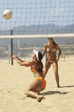 Women Playing Volleyball On Beach Stock Photography