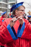 Women plays a flute stock photography