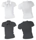 Women Polo Shirts Template Royalty Free Stock Photos