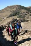 Women porter parade on a Himalayan trail