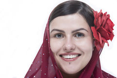 Closeup portrait of lady with beautiful smile Stock Image